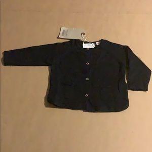 New unworn Zara baby button down sweater